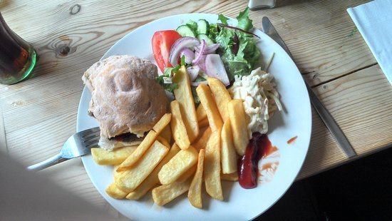 The Sun Inn: gluten free meal - delicious!