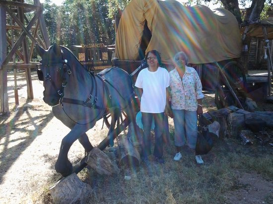 Enchanted Springs Ranch : Old Wagon pulled by horse