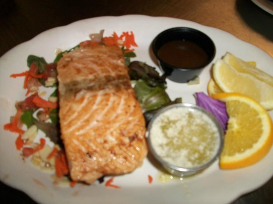 Springers: grilled salmon