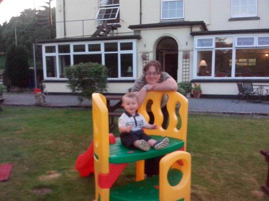 Family play area, at George Borrow Hotel, Ponterwyd, Wales