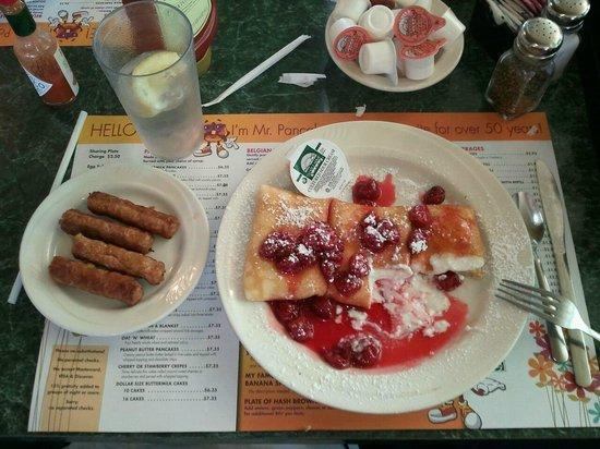 Mr Pancake: Cherry Blintzes