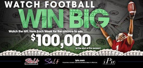 Salt Lounge: Watch football -- WIN BIG!