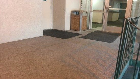 Quality Inn Downtown Convention Center: Filthy landing