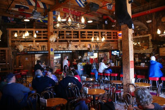 Red Dog Saloon: Interior with saw dust on the floor