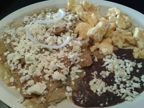 El Sabor Huasteco: chilaquiles