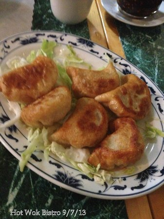 Hot Wok Bistro: Schezuan Beef  Potstickers
