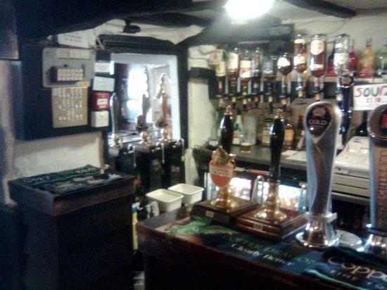 The Black Cock Inn: bar area