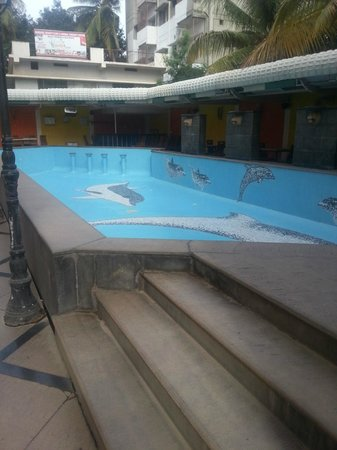 Hotel Krishna Palace: Empty pool