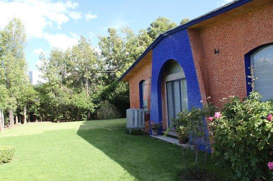 Hotel Plaza Zacatecas: Salón para eventos con acceso a las áreas verdes