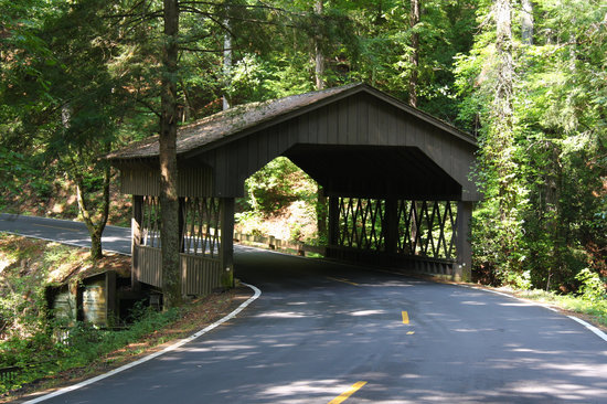 Petit Crest Villas at Big Canoe: Covered Bridge on Wilderness Parkway