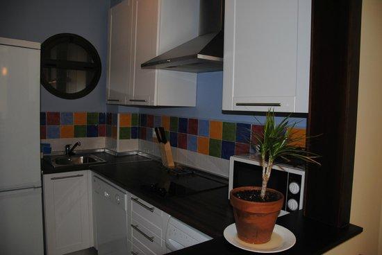 Apartamentos Puerta de San Esteban: Cocina independiente