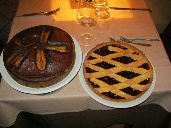 La Piccola Toscana : cioccolato e pere e crostata