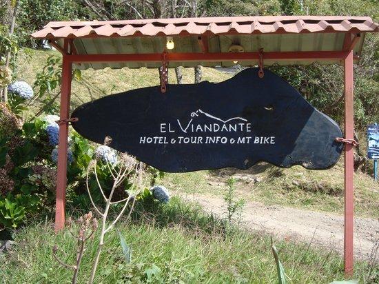 Hotel El Viandante: Hotel sign