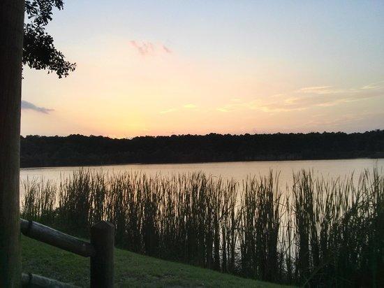 KOA Campground: Sunset over lake