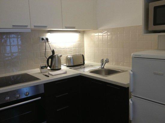 Fraser Residence Budapest: Cocinita del apartamento
