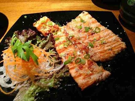 Yukisan : grilled salmon with teriyaki sauce