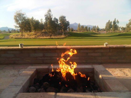 Ak-Chin Southern Dunes Golf Club: From the patio