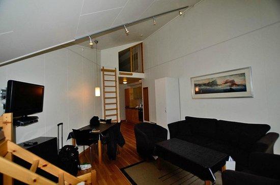 Vossestrand Hotel & Apartement : Living room