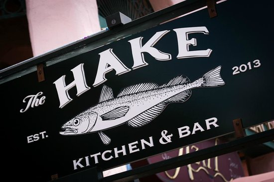 The Hake: Outside sign