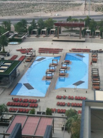 M Resort Spa Casino: Main pool view from our room