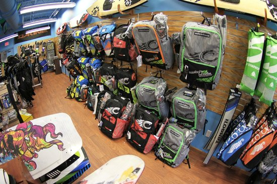 Ron Jon Kiteboarding Shop and School: Tons of Kites to choose from
