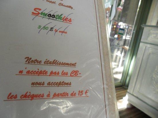 Restaurant La Treille Muscate : CB or not CB