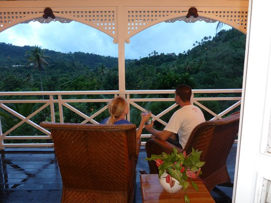 Fond Doux Plantation & Resort: Evenings on the porch watching the sunsets