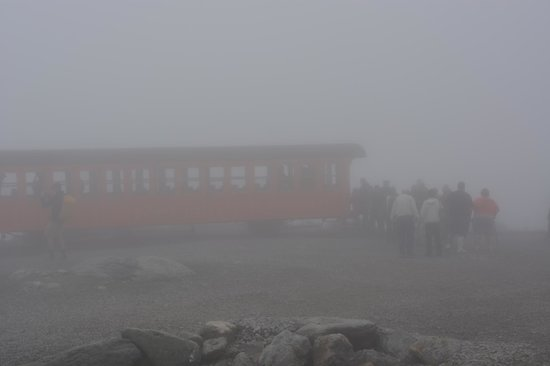 Mount Washington: The Cog in the fog. (Mt.Washington Cog Railway est.1868)