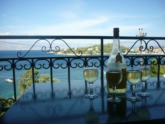 Dimitrios Apartments: Wine on the balcony!