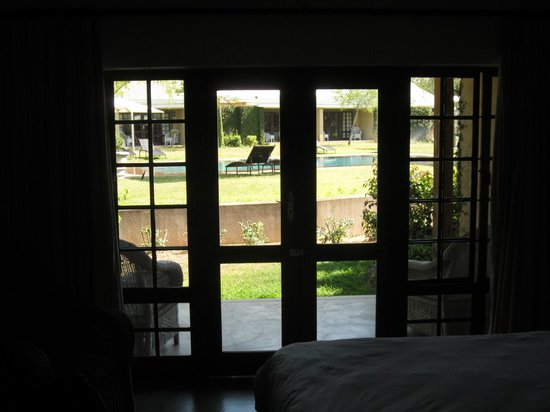 Perry's Bridge Hollow: Pool view through patio doors