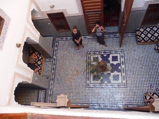Dar Bensafi : interior patio