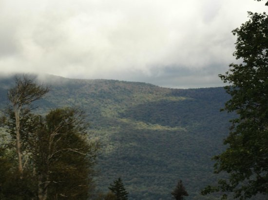 Stowe Mountain Auto Toll Road: View on the way up the road.