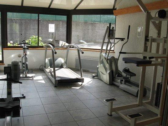 Au Bois le Sire: la salle de sport ou se trouve aussi le hamam et le sauna