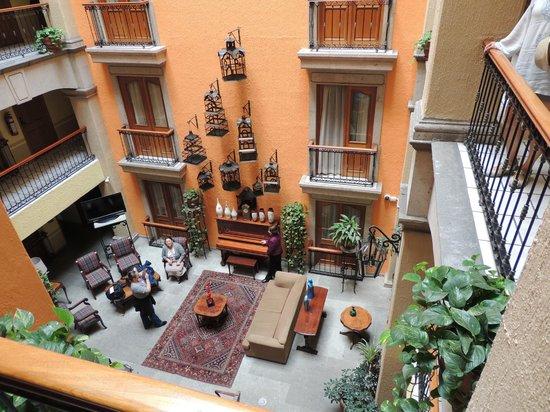 Santiago De Compostela: overlooking central lobby bar