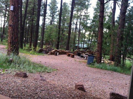 Mountain Meadows Cabins: Fire Pit