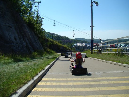 Skyline Luge Mont-Tremblant: On the descent