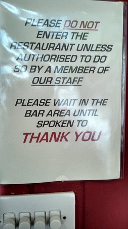 Letterbox Restaurant : Their attitude to customer service explained...