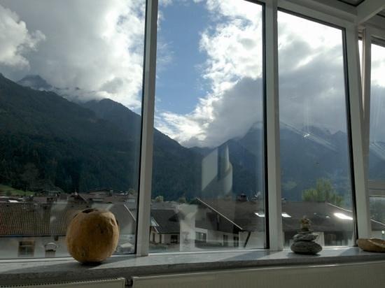 Sporthotel Manni: uitzicht rustgedeelte op bovenste verdieping