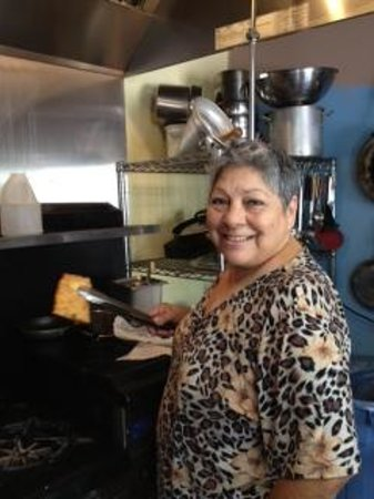 Cuchillo, NM: Fabulous cook & owner, Lydia Torrez
