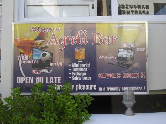 Agrelli Hotel: bar advert