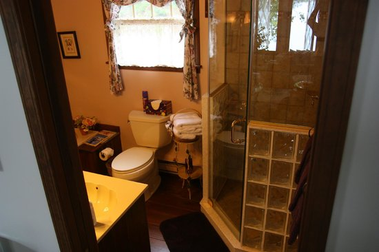 Tudor Hall B&B on Keuka Lake: Shower in the Royal Suite (there's also a jacuzzi)