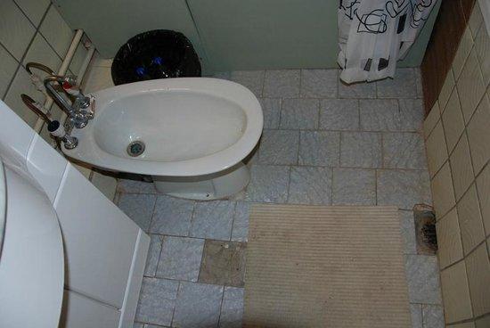 Hotel Aukstaitija: Биде в ванной (не в туалете!), выбитые плитки в полу