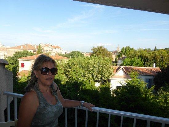 Le Mozart Hotel : panorama dal balcone della camera
