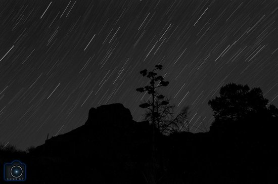 The Window: star trails from window overlook trail