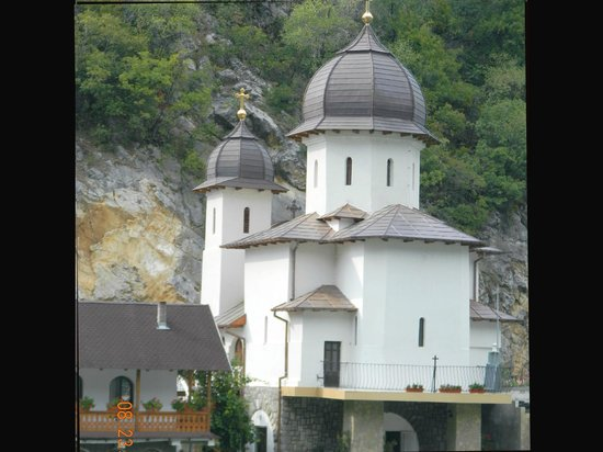 Iron Gates: Orthodox Church along Danube.