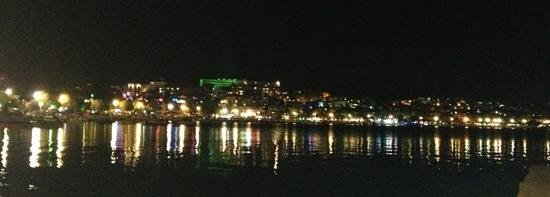 Turihan Hotel: view from hotel beach at night
