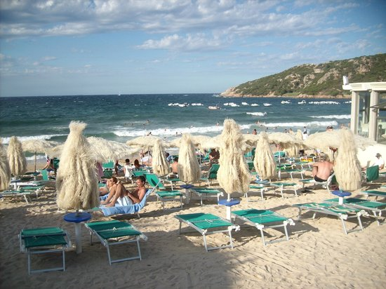 Hotel Punta Est: vista de la playa d eBaja Cerdeña