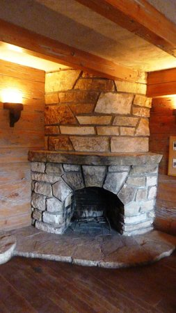 Guernsey State Park: Museum Library - Fireplace