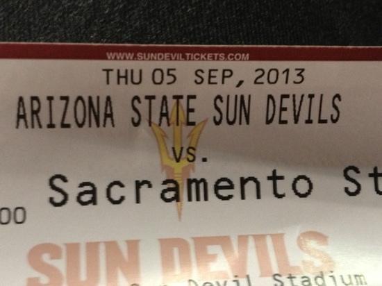 Sun Devil Stadium: ready for the game :)