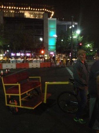 Sun Devil Stadium: taxi-bike! :)